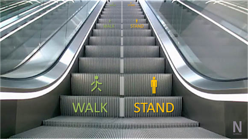 Explicit escalator interface